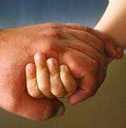 Hände Kind und Vater